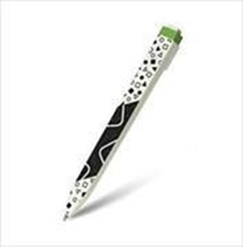 Picture of Moleskine Go - Pen With Tagged For Display Black, Medium Tip 1,0 mm, Pattern Green