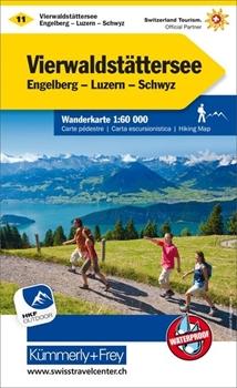 Bild von Hallwag Kümmerly+Frey AG (Hrsg.): Vierwaldstättersee Wanderkarte Nr. 11. 1:60'000