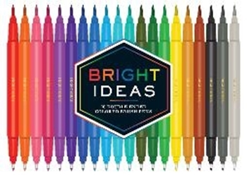 Picture of Chronicle Books (Geschaffen): Bright Ideas: 20 Double-Ended Colored Brush Pens