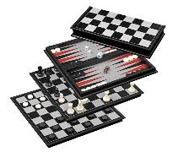 Picture of Schach-Backgammon-Dame-Set, Feld 37 mm