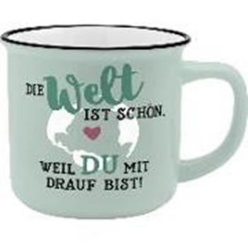 Picture of Gruss und Co 45775 Kaffee-Becher Welt, New Bone China Porzellan, 35 cl